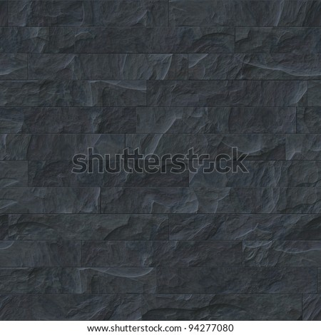 An image of a seamless black stone texture - stock photo