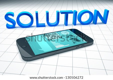 An image of a smart phone solution - stock photo