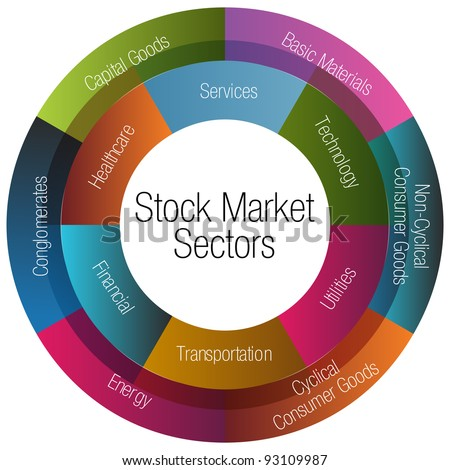 An image of a stock market sectors chart. - stock photo