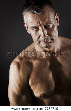 An image of a strong middle age man - stock photo