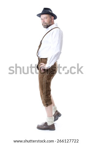 An image of a traditional bavarian man - stock photo