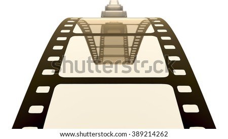 An image of a vintage film strip background - stock photo