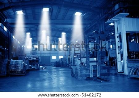 an image of a warehouse in day time - stock photo