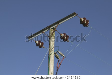 An image of an electricity power telegraph pole