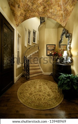 An image of an elegant home foyer - stock photo