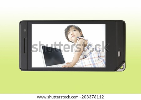 An Image of Baby And Laptop