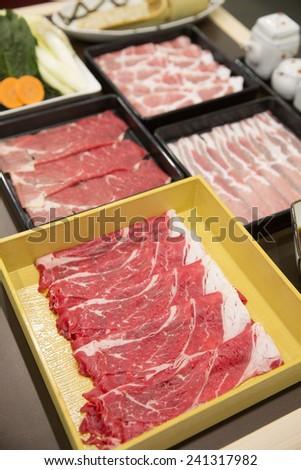 An Image of Beef Shabu-Shabu - stock photo