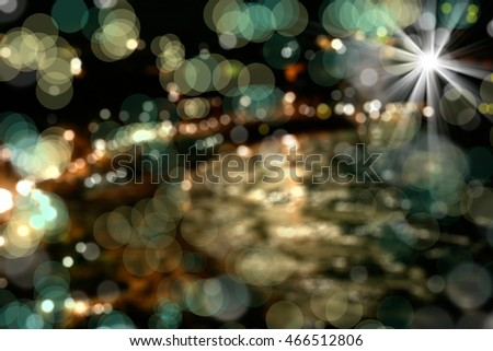 an image of blurred city view at night