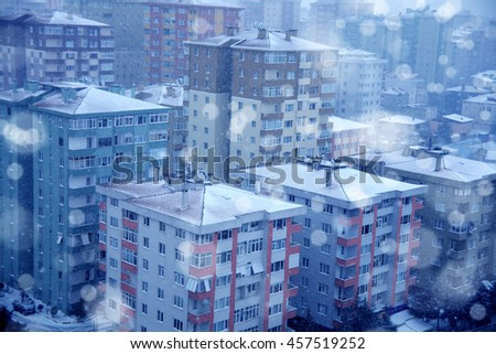 an image of buildings - stock photo