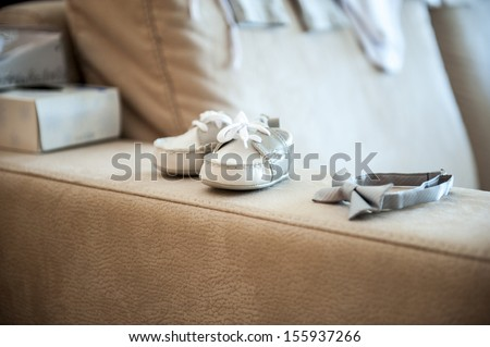 an image of children's shoes - stock photo