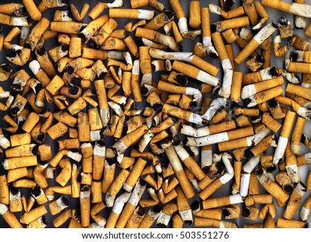 an image of cigarette butts