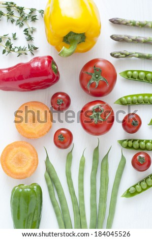 An image of Colorful vegetables - stock photo