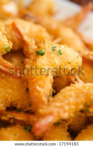 An image of delicious fresh fried shrimp - stock photo