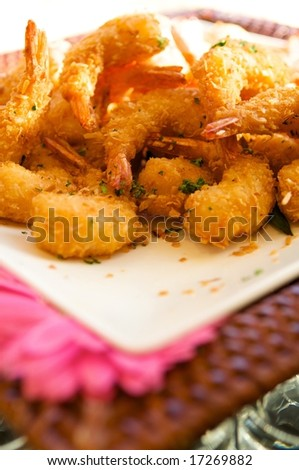 An image of delicious fresh fried shrimp