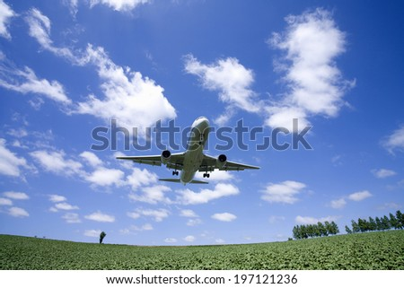 An Image of Hill And Airliner
