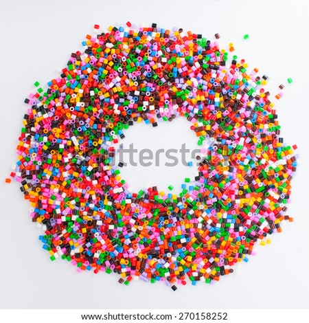 an image of lot of small colorful pieces