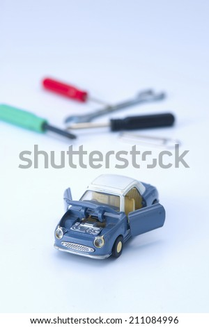 An Image of Malfunctioning Car - stock photo