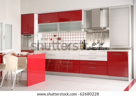an image of Modern Kitchen drawers and Granite Countertop