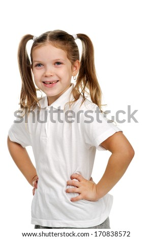 An image of nice girl posing in studio