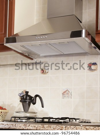 an image of oven in  Modern Kitchen - stock photo