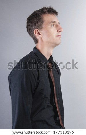 an image of sad businessman - stock photo