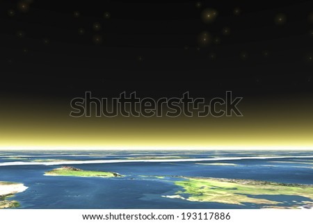 An image of Sea and atmosphere - stock photo