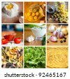 An image of set of various tasty products - stock photo