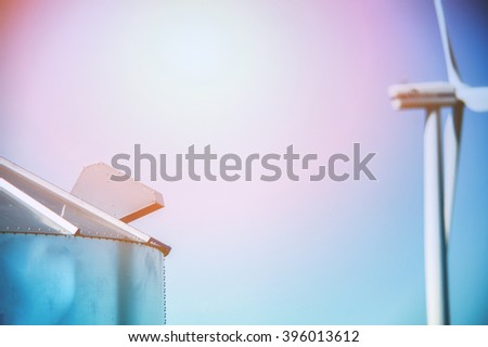 An image of silo for corn - stock photo