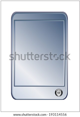 An image of Silver screen smartphone