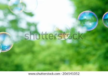 An Image of Soap Bubble