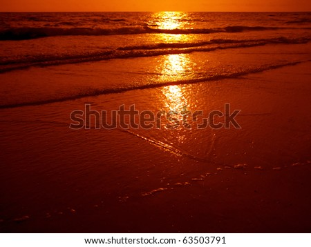 an image of sunset scene on the sea