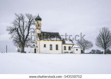 An image of the church at Raiting Bavaria Germany