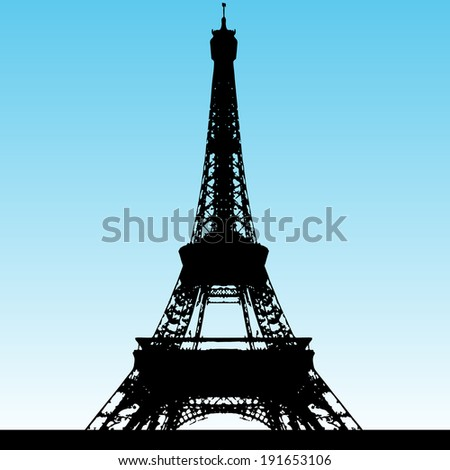 An image of the Eiffel Tower - grunge style.