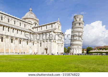 An image of the great Piazza Miracoli in Pisa Italy - stock photo