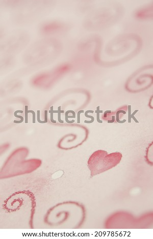 An Image of The Heart-Patterned Paper
