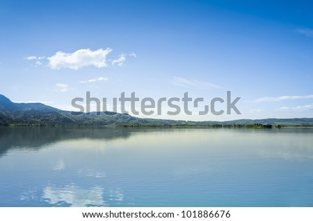 An image of the Kochel Lake in Bavaria Germany - stock photo