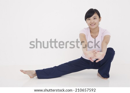 An Image of The Stretching Woman