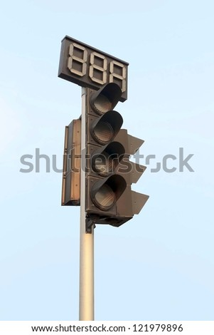 An image of traffic lights while no light.