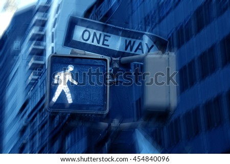 An image of walking sign - stock photo