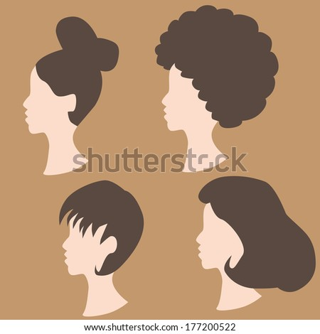 An image of wig hairstyles.