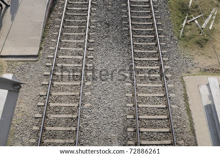 An Indian Railway track. - stock photo