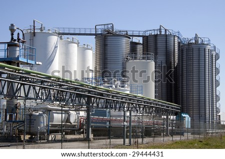 An industrial power plant - stock photo