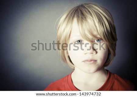 An innocent victim of abuse - stock photo
