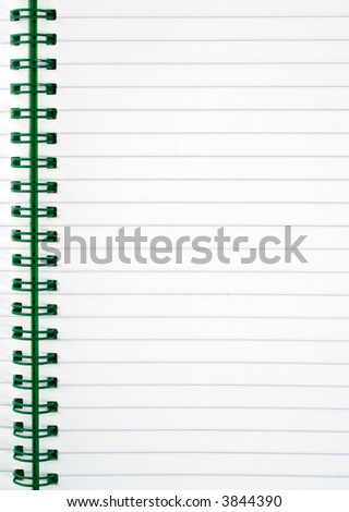 An inside page of a notepad. - stock photo