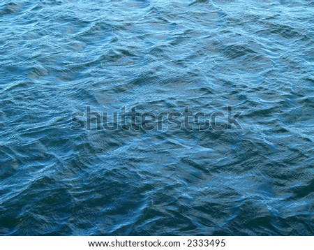 An interesting rippled water background taken at Lake Erie, Ohio - stock photo