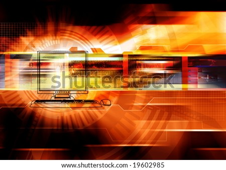 An internet background concept - stock photo