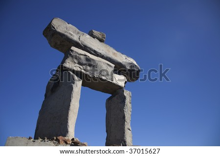 An Inukshuk on the top of Whistler, BC