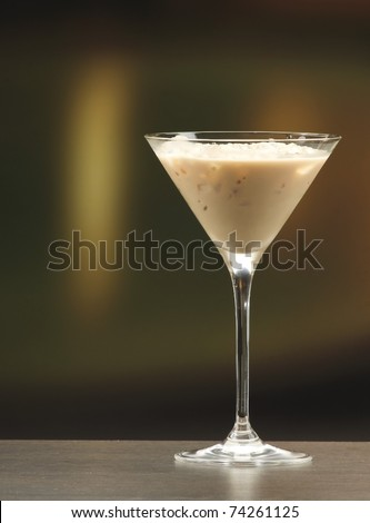 an irish cream liquor in a martini glass - stock photo