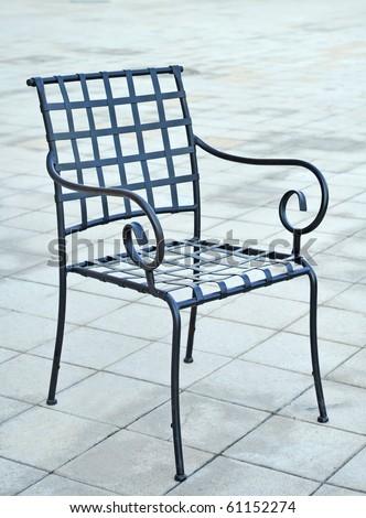 An iron chair - stock photo