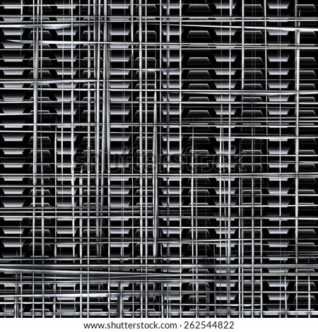 An irregular wire mesh made of metal - stock photo
